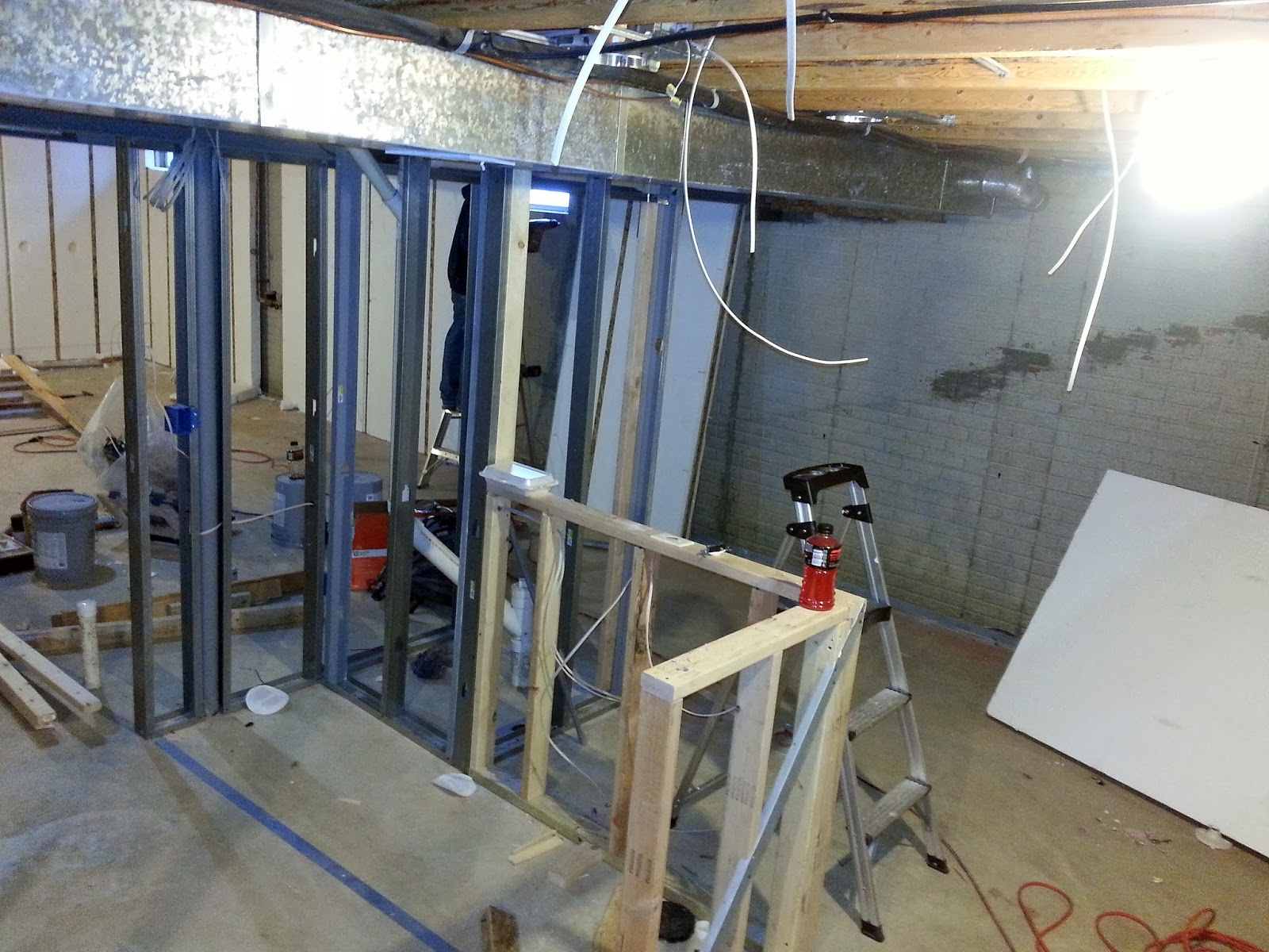 Basement Finishing | Framing For Bar