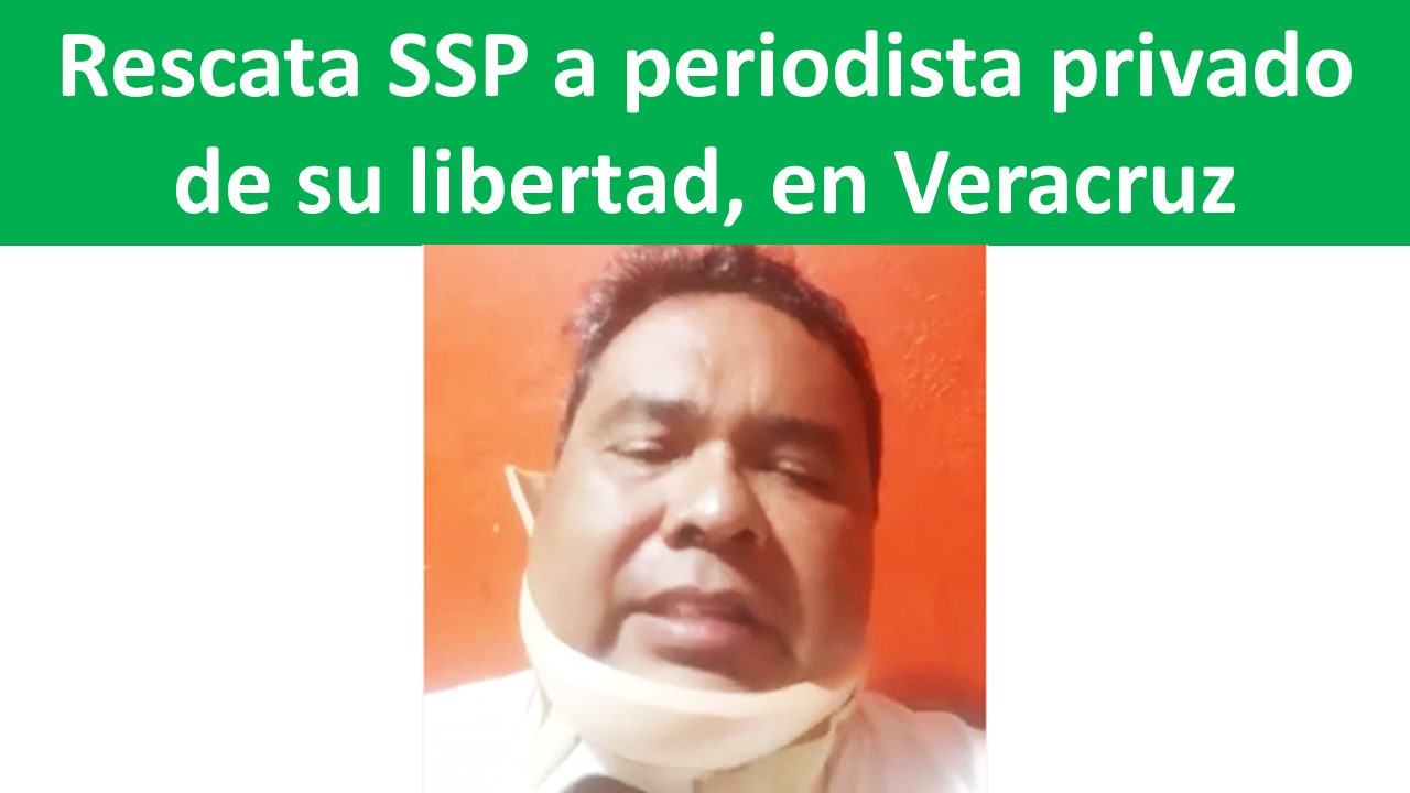 Rescata SSP a periodista