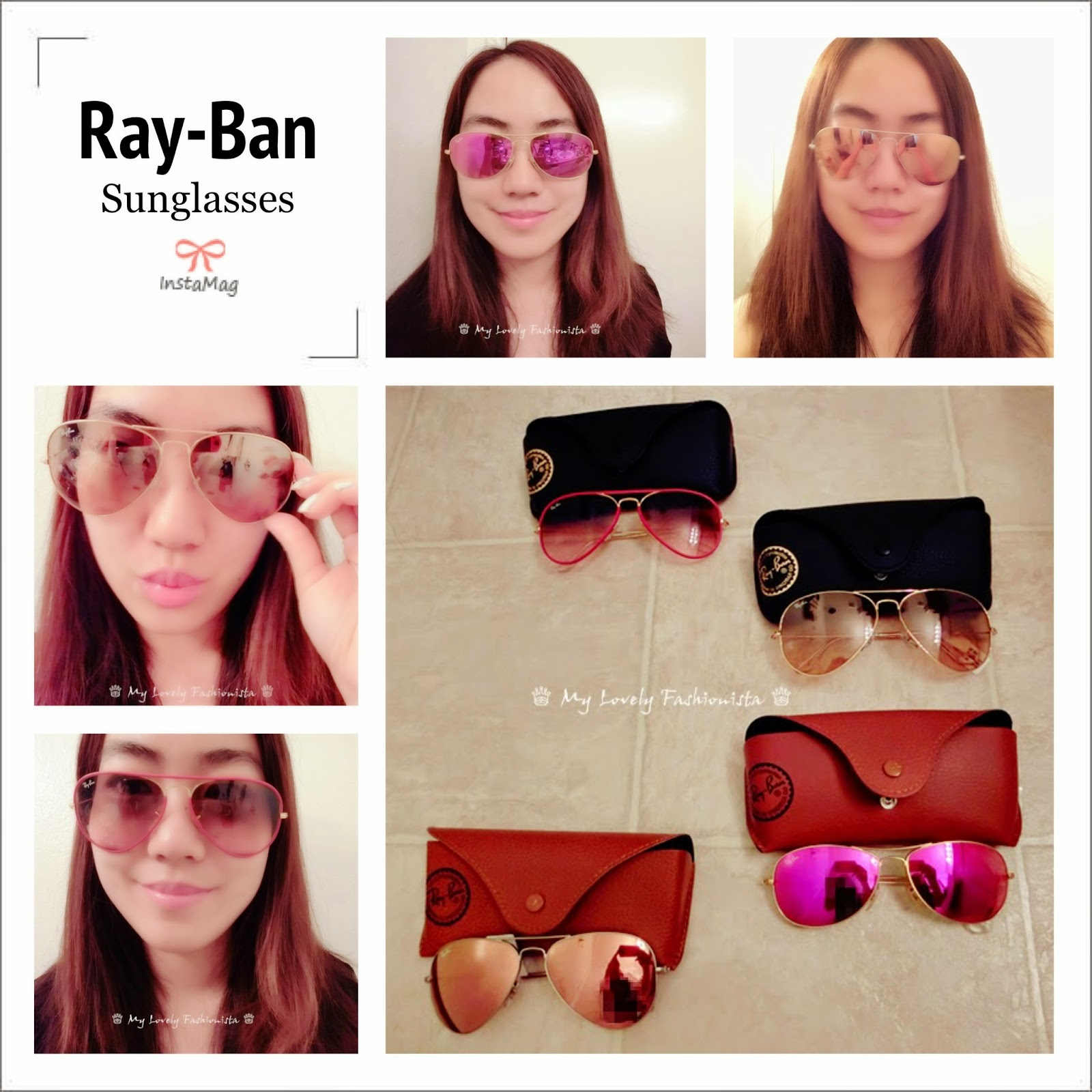 ray ban aviator mirrored sunglasses brown pink  ray ban 'original aviator' 58mm sunglasses, mirror lens, brown pink