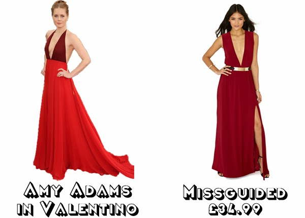 Steal Her style golden globes 2014  get the look red carpet fashion amy adams valentino missguided
