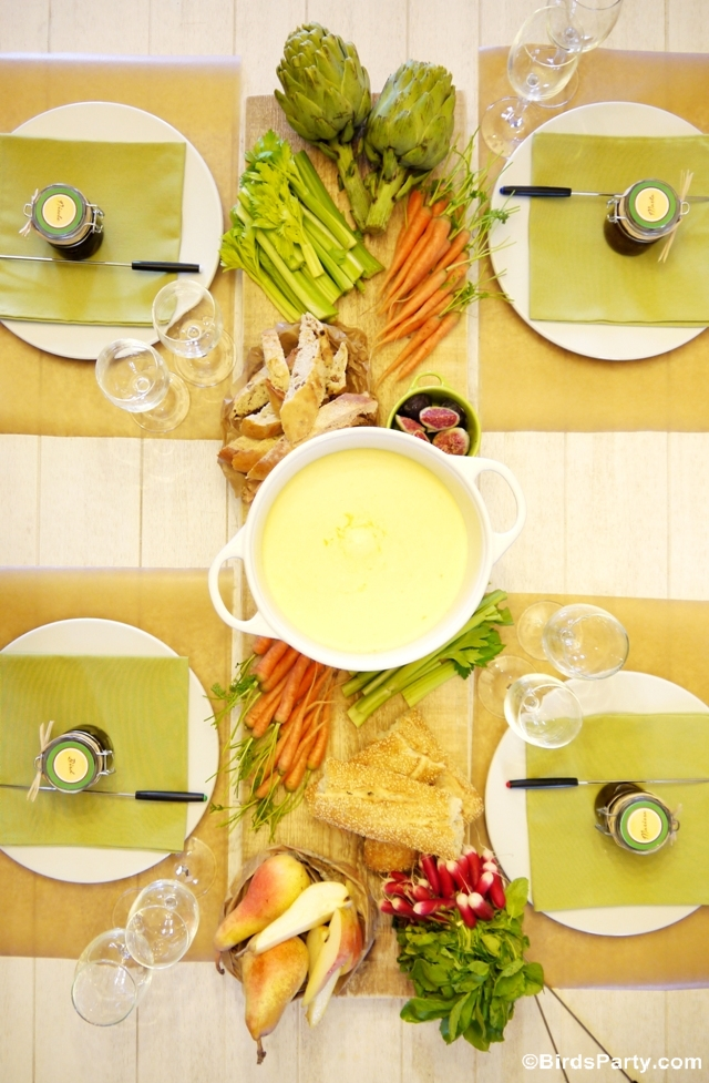 Cheese Fondue Party Ideas Styling and Tablescape Decor