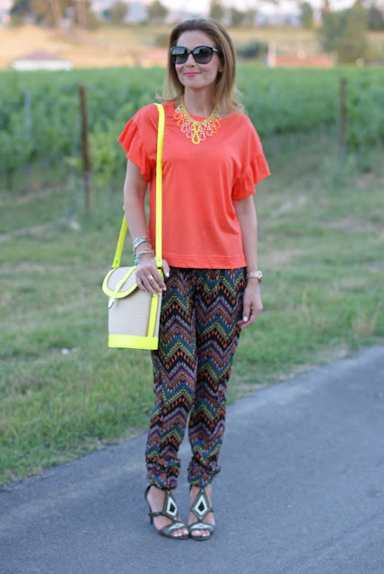 summer outfit with ethnic pants, Ash sandals, swaychic pants, fashion and cookies