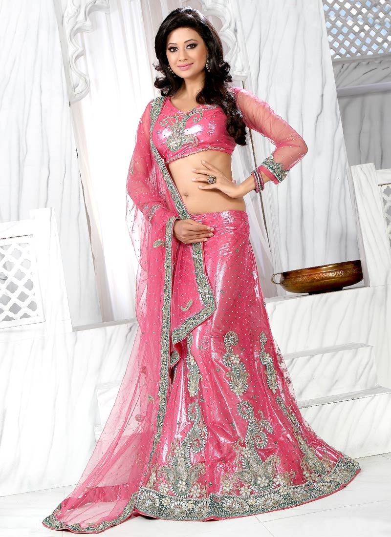 Latest lehenga design collection ethnic womens wear for Net designs