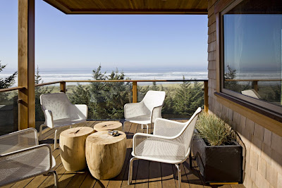 fun and relaxing balcony with unique outdoor patio to enjoy the coast