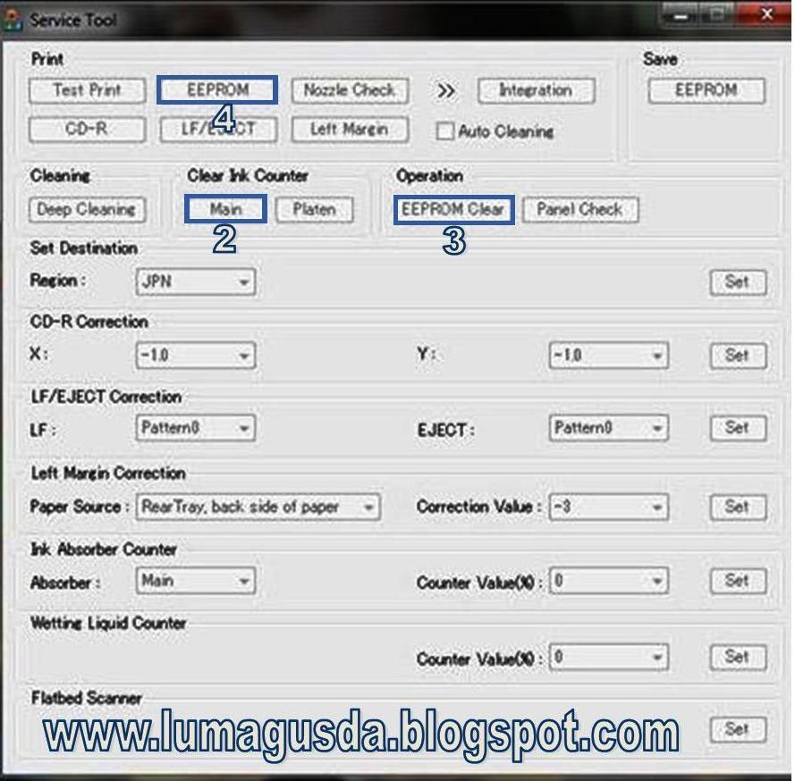 software resetter printer canon pixma mp258 cara reset