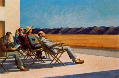 Grupo de gente al sol. Edward Hopper. 1960