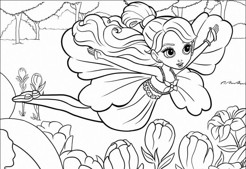 Coloring page barbie for kids print and coloring page for kids