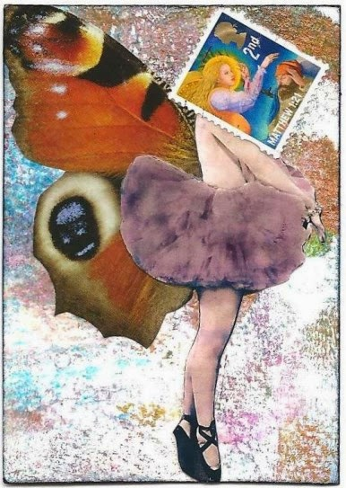 Whoopidooings: Carmen Wing - Mixed Media Stamp Head ATC