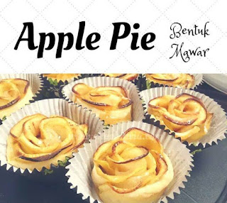 cara membuat pie apel mawar