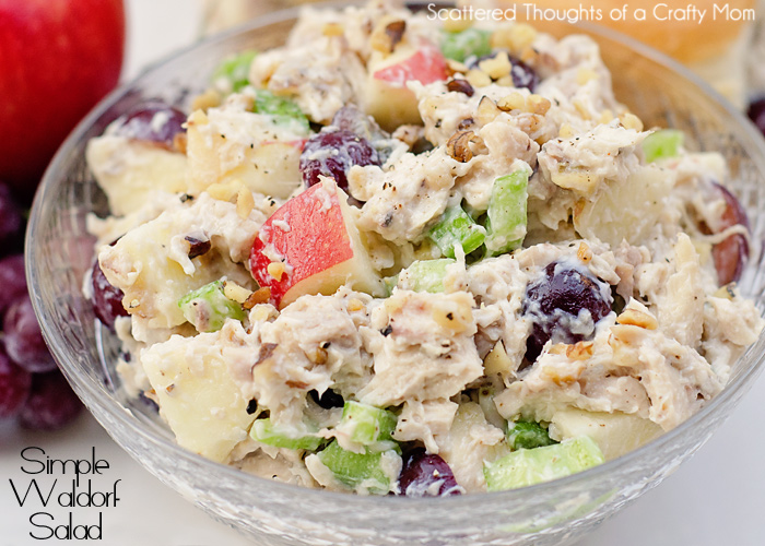 Simple Waldorf Salad Recipe | Scattered Thoughts of a Crafty Mom