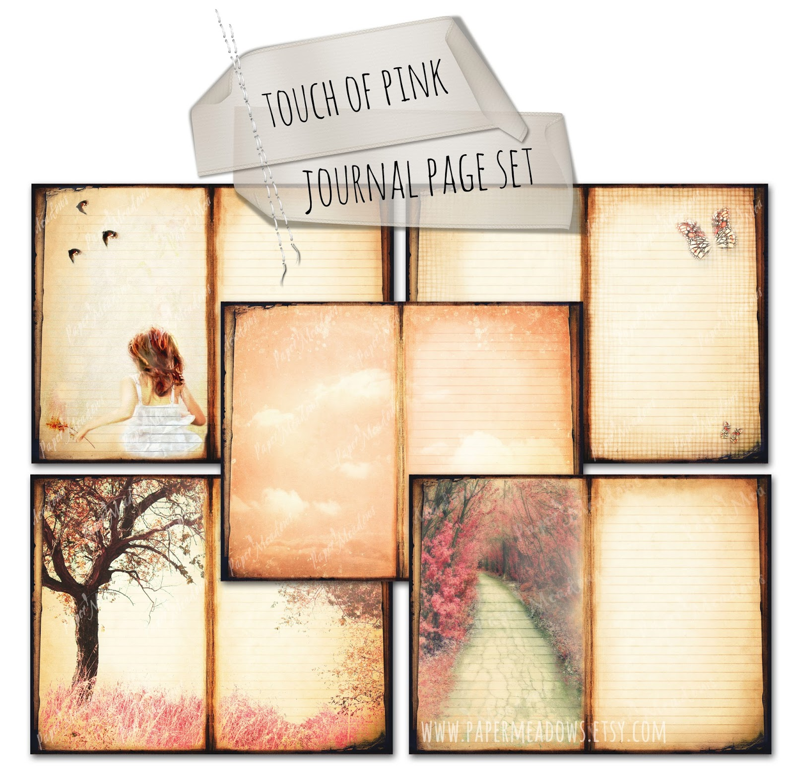 Touch of Pink Journal Page Set.  You can purchase and download our photography creations and instantly print at home from our Paper Meadows Photography Shop on ETSY. To Visit our shop now click here.