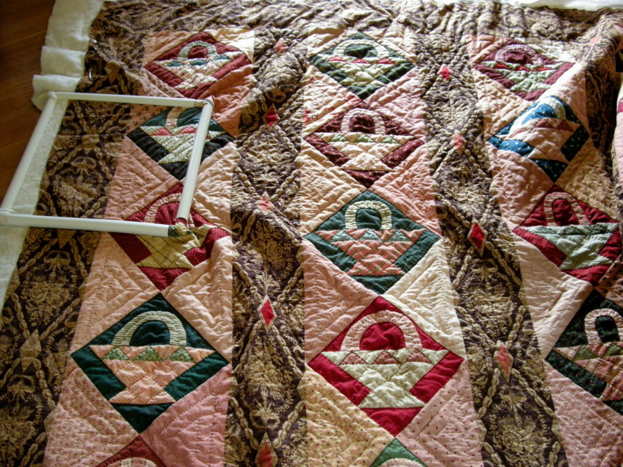 Slow Stitching the Vertical Baskets Quilt