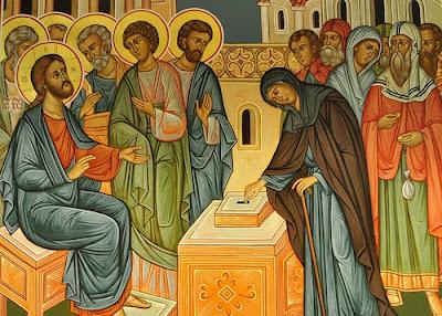Jesus and the poor widower