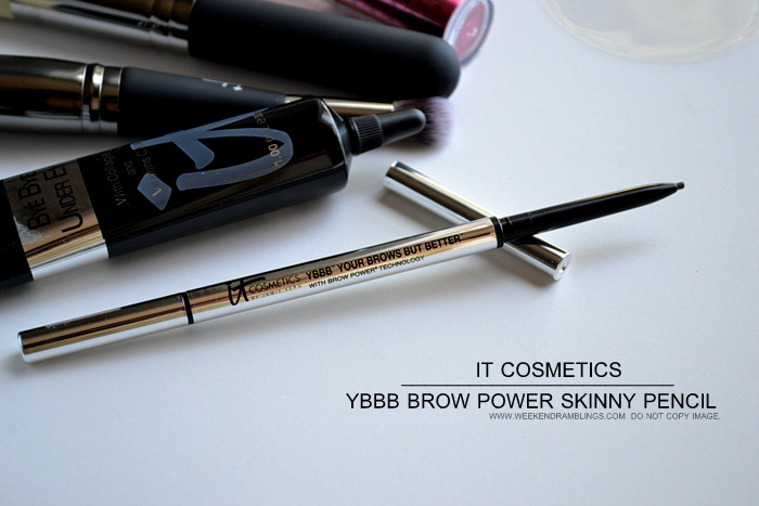 It Cosmetics Your Most Beautiful You 6 Piece Antiging Makeup Collection Beauty Blog YBBB Your Brows But Better Skinny Power Eyebrow Pencil Photos Swatches