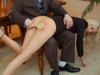 Firm Hand Spanking (M/f): High Fliers spanking