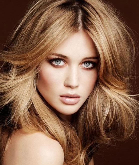 best hair color for olive skin and blue eyes
