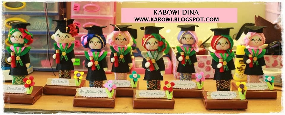 KABOWI PRODUSEN BONEKA WISUDA PLAKAT Souvenir Graduation ...