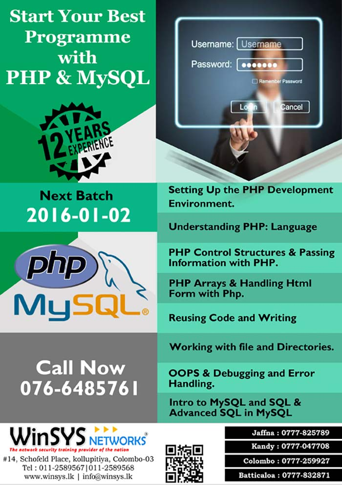This PHP and MySQL course will provide you with the skills and knowledge necessary to create dynamic database-driven websites / online applications using PHP and MySQL