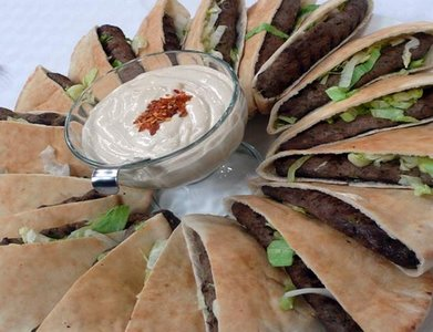 Grilled kofta sandwiches