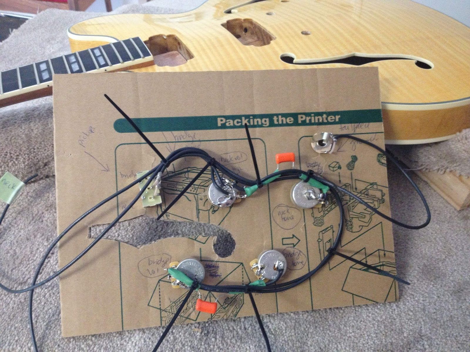 Guitar kit builder 12 string 335 vintage 50s wiring harness at present i satisfied myself with a simple modification to the 50s vintage wiring scheme to allow the volume pots to operate independently asfbconference2016 Gallery