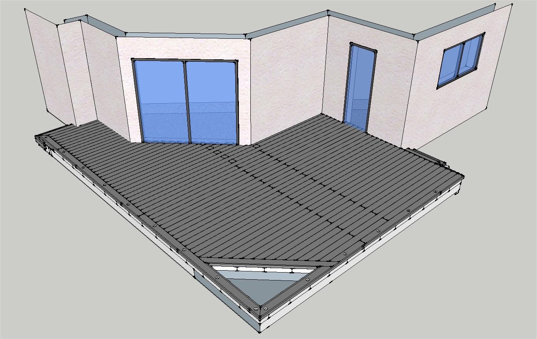 Mob ossature bois isolation energie domotique for Projet terrasse en 3d