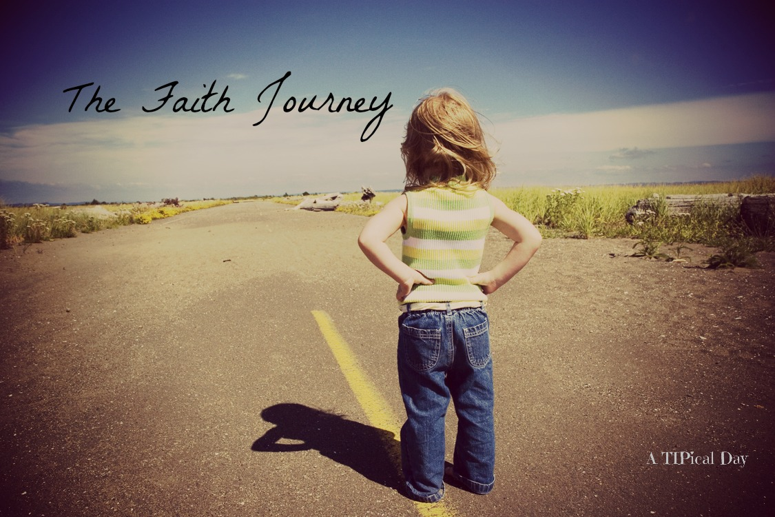 The Faith Journey - little girl looking down a road with hands on her hips