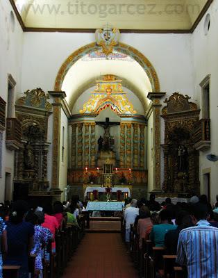 Interior da igreja de São Francisco, em São Cristóvão - Sergipe - Por Tito Garcez