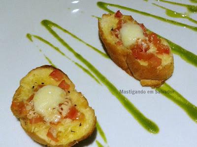 Zank by Toque Hotel na Salvador Restaurant Week 2015: Bruschetta Marguerita com Mozzarela de Búfala