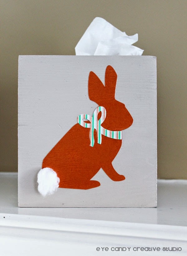 easter bunny, modge podge, Silhouette Cameo project, easter craft