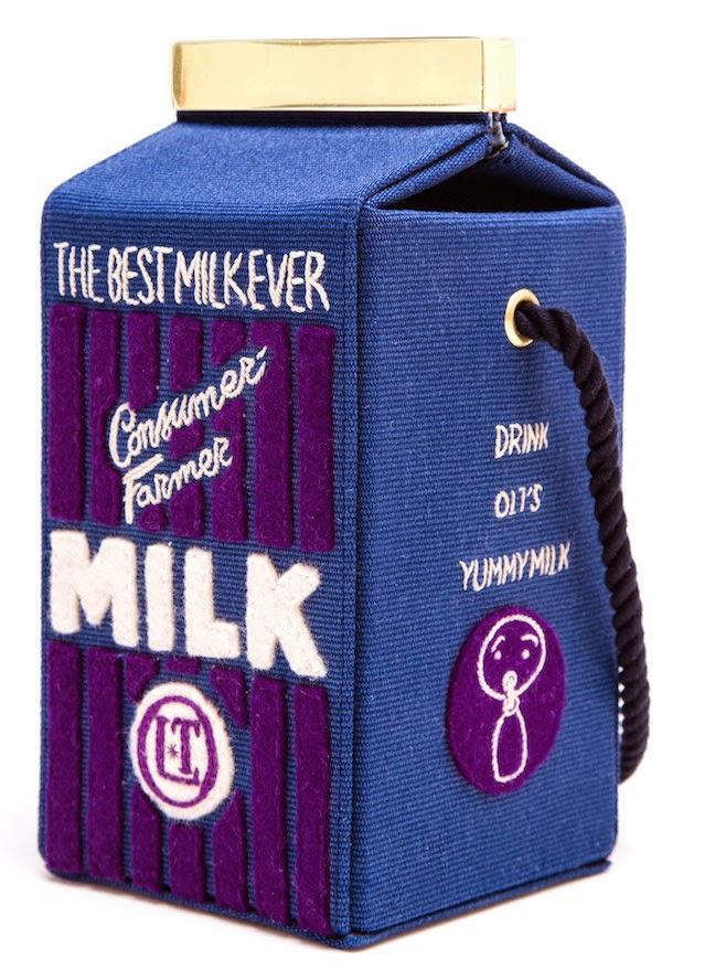 The Daily Bauble: Olympia Le-Tan Felt Milk Carton Bag   The Terrier and Lobster