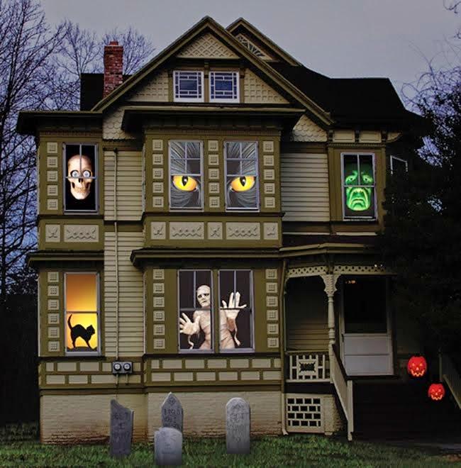 Haunted House on Halloween Night
