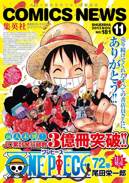 One Piece alcanza las 300 millones de copias con su tomo 72