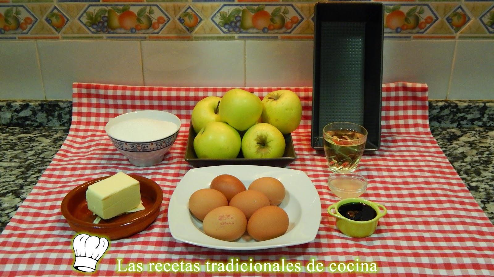 Receta flan de manzana sin leche