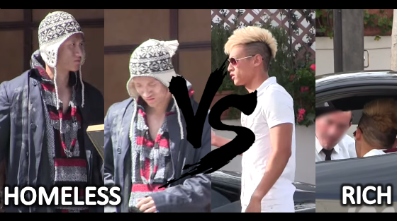 Homeless man Vs Rich man