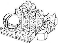 planse de colorat cu cadouri