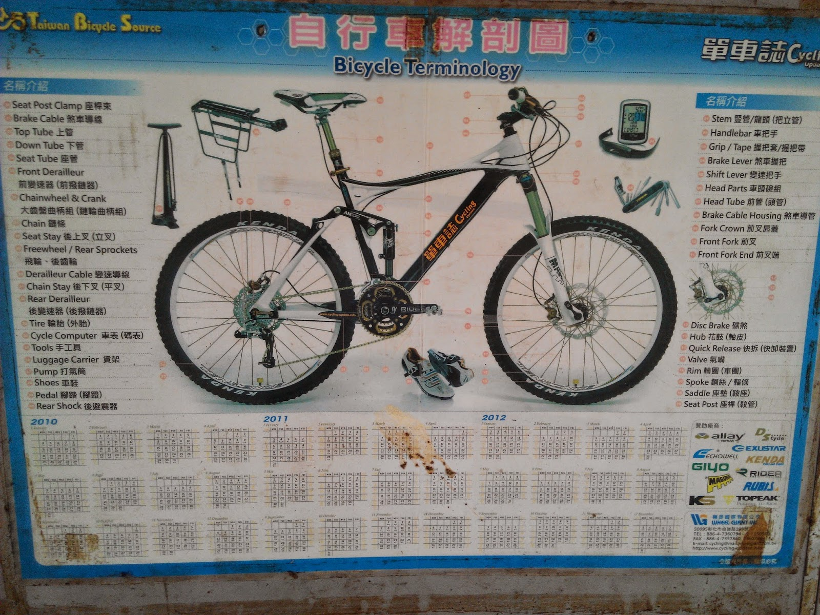 InSaNeT@z: Bicycle Terminology in English and Chinese
