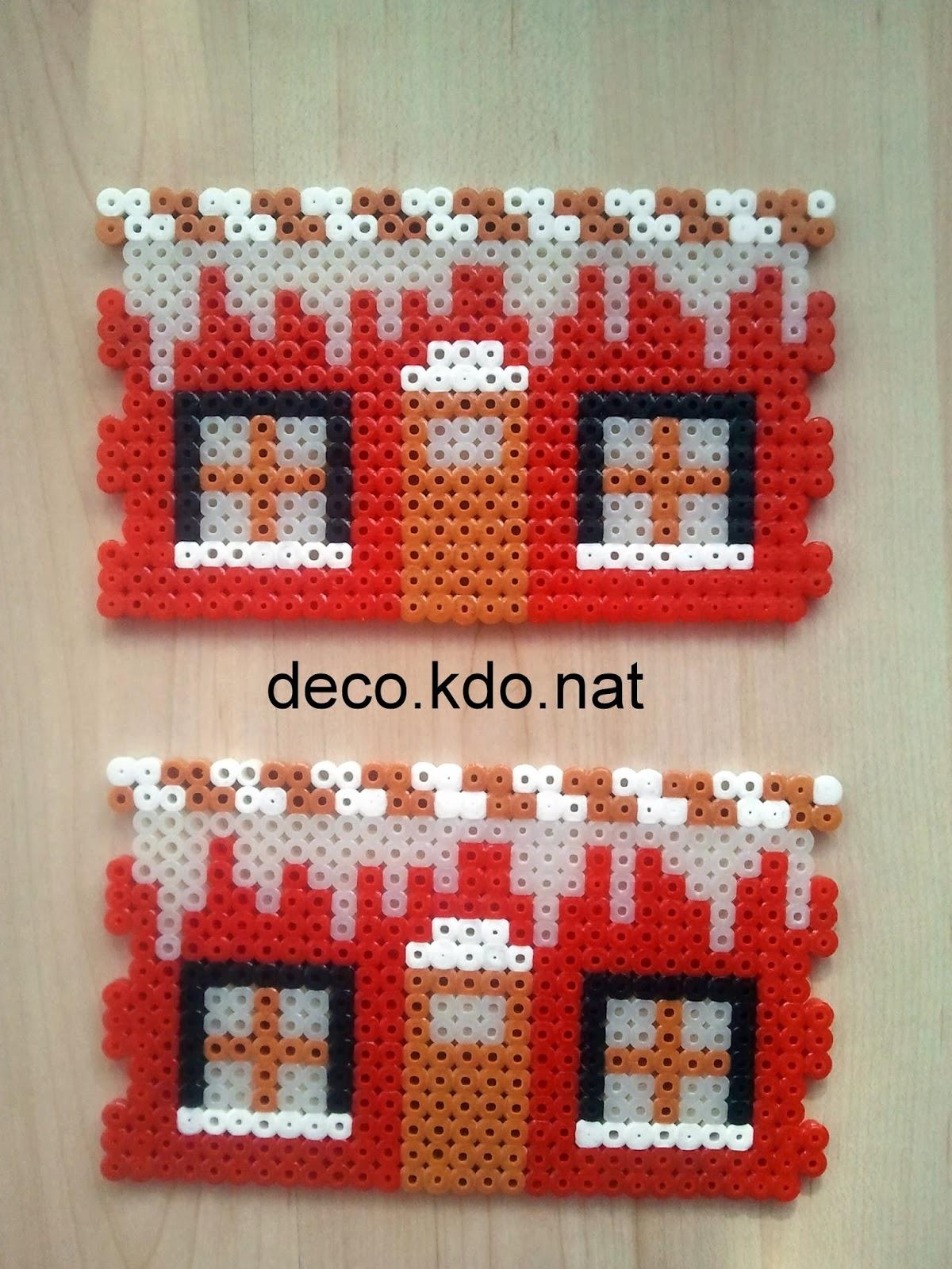 deco kdo nat perles hama maison du p re no l 3d. Black Bedroom Furniture Sets. Home Design Ideas