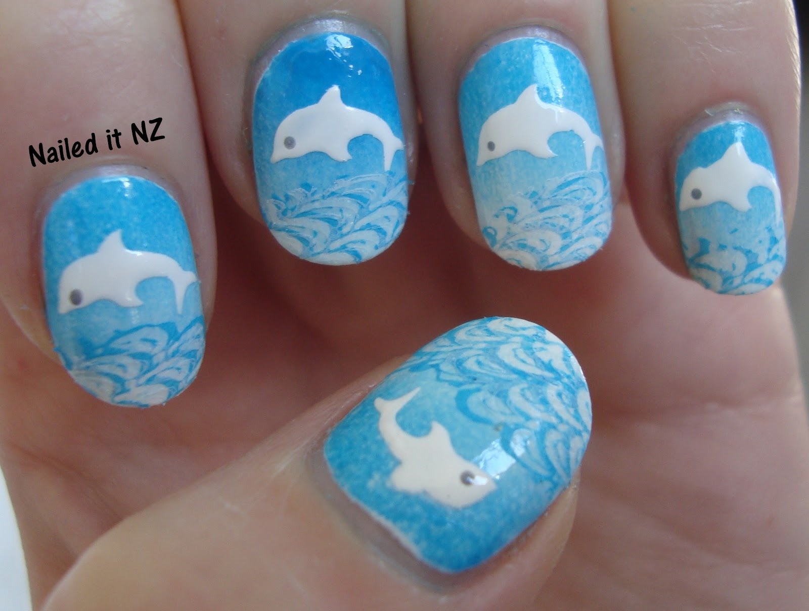 Dolphin nails (with tutorial)