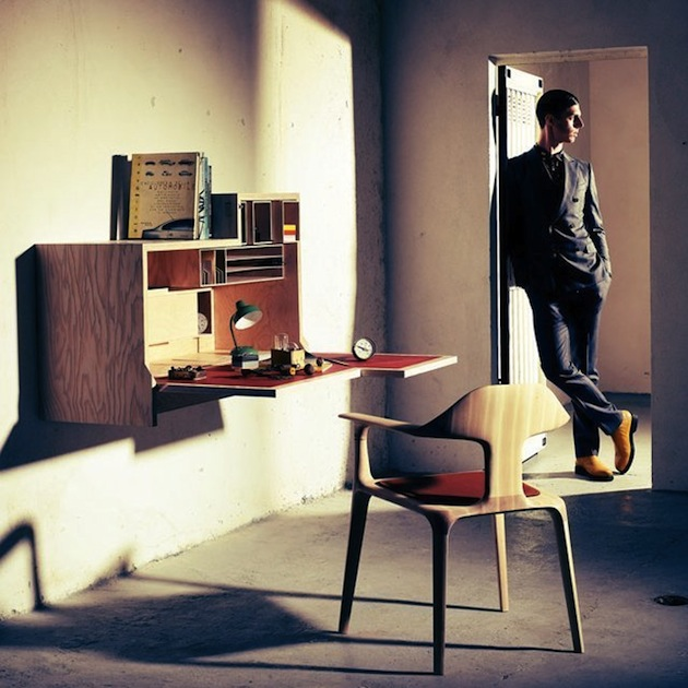 Inspiring Modern Home - Falling Dansu, Unique Wall Mounted Cabinet Desk by Joseph Walsh
