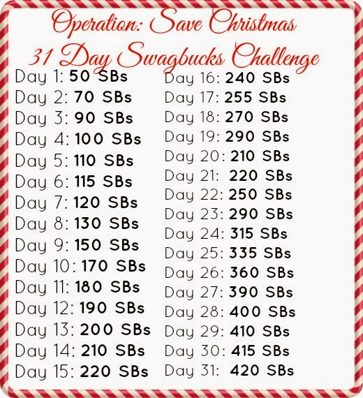 Operation: Save Christmas Swagbucks Challenge