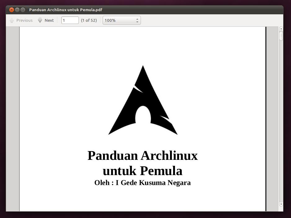 Ebook: Panduan Archlinux Untuk Pemula