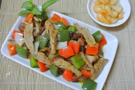 Món ăn ngon: Thịt vịt xào sa tế