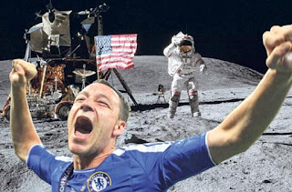 John Terry, Photobomb, celebration, photoshop, moon landing,