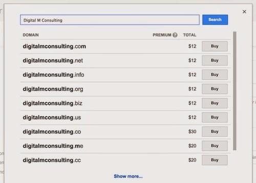 Google Domains select a custom domain for Blogger blog
