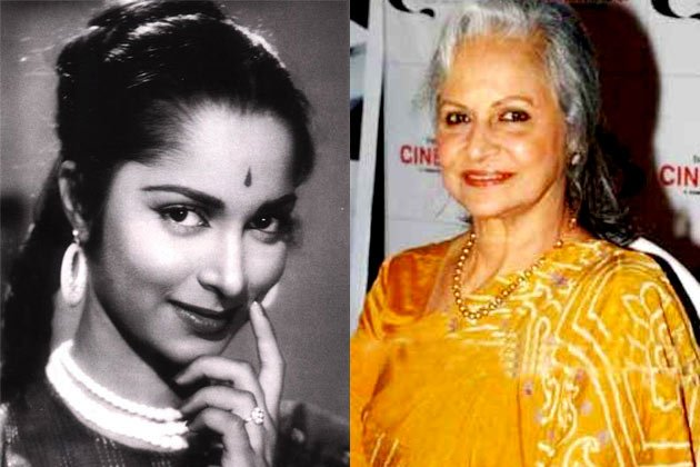 Waheeda Rehman than and now