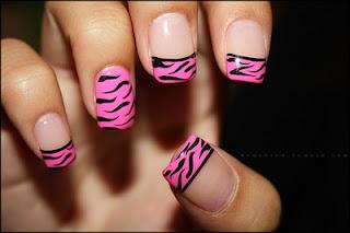 saranje noktiju - animal print nokti 003