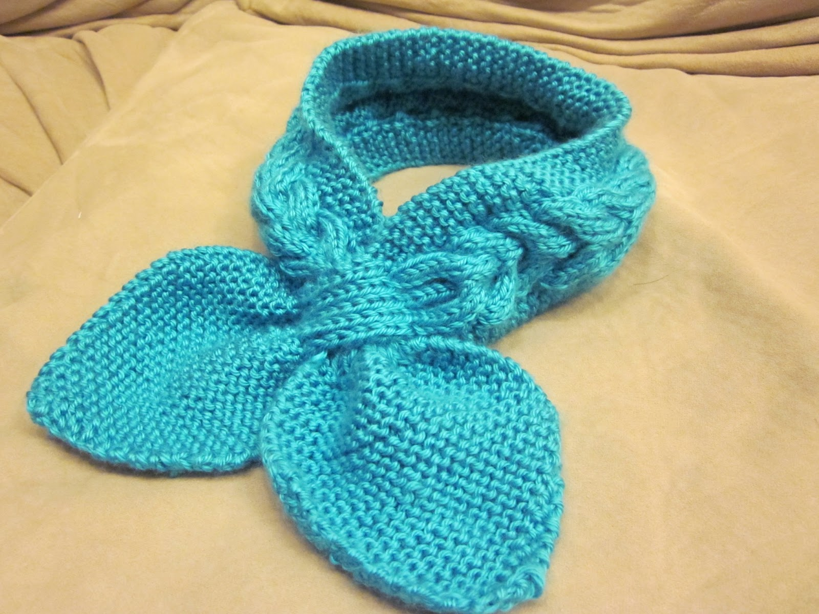 Loving Blueberry: Knitted Neck Scarf O(???)O