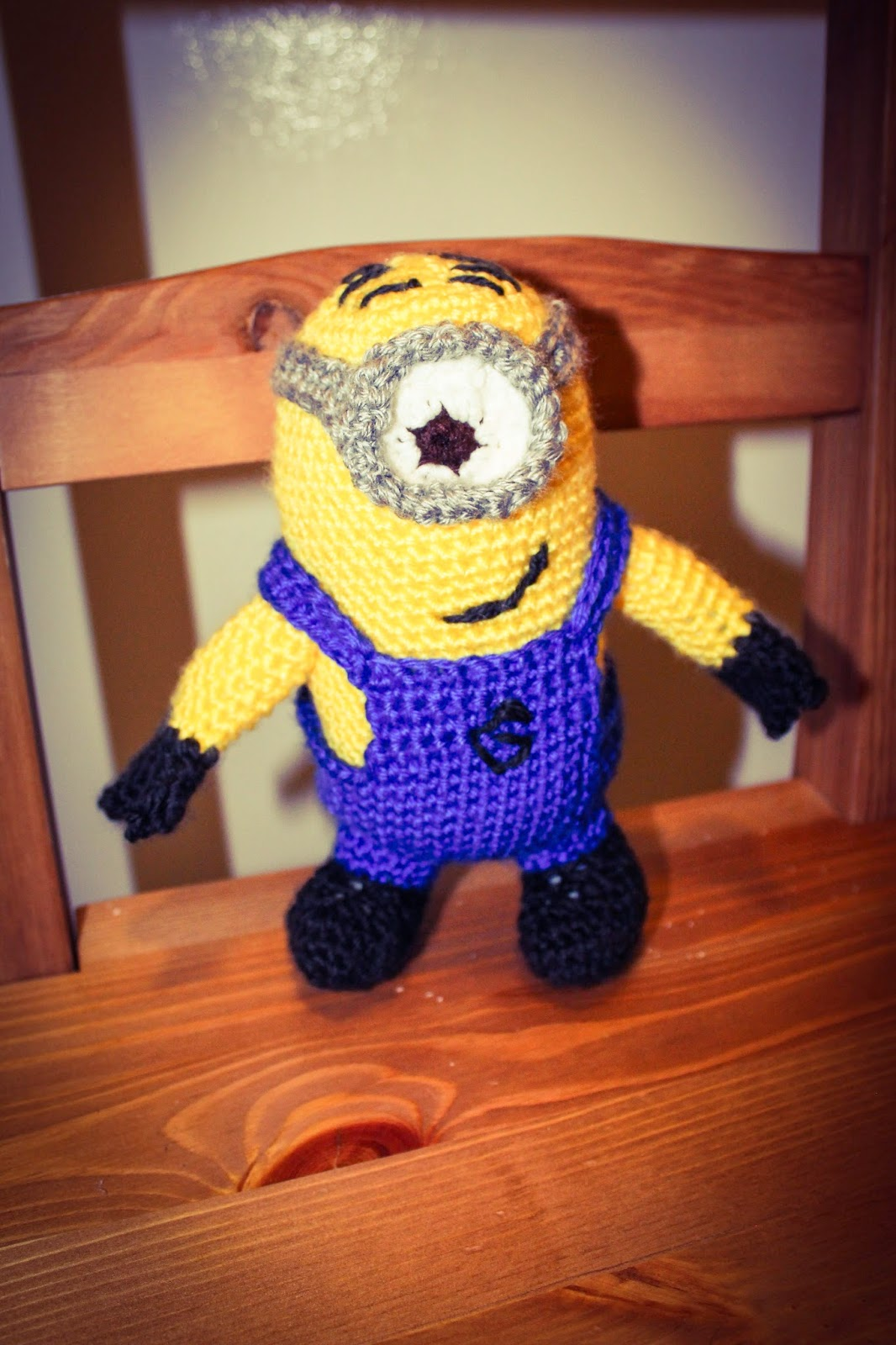 Yarn lab crochet minion toy with a crocheted minion from despicable me i followed the pattern by nicoles nerdy knots available as a free ravelry download bankloansurffo Images