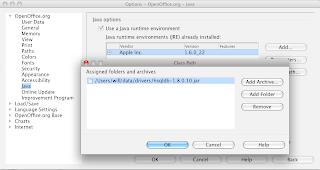 OpenOffice Java and Classpath Configuration