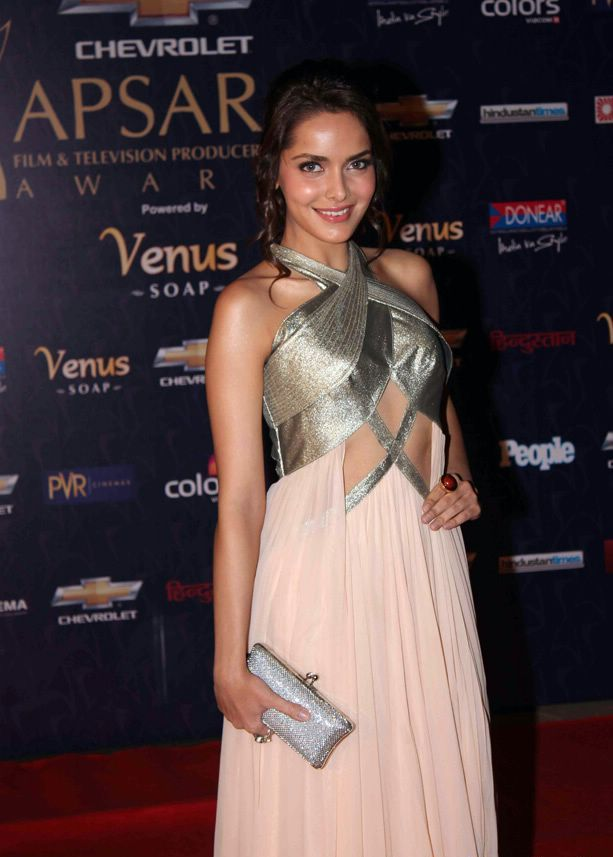Shazahn Padamsee at Apsara Awards in Pink Gown1 - Shazahn Padamsee at Apsara Awards 2012